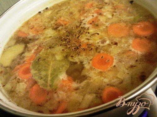Суп из перепелок с пшеном