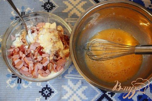 Закусочный кекс с ветчиной, горчицей и сыром