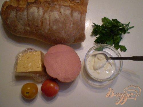 Бутерброды с колбасой в духовке