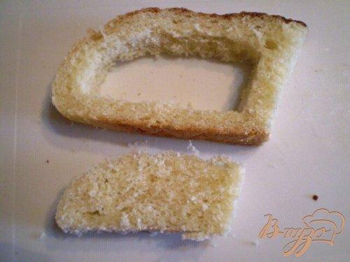 Яйцо в хлебе под сыром
