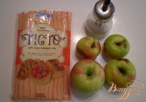 Большая слойка с яблоками