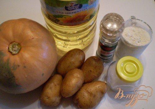 Драники из картофеля и тыквы