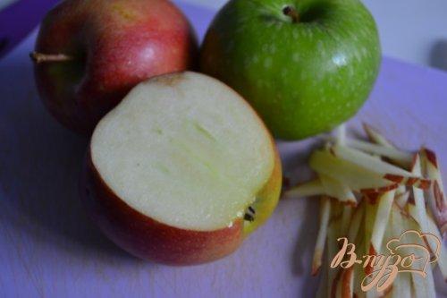Закуска из яблока с креветками
