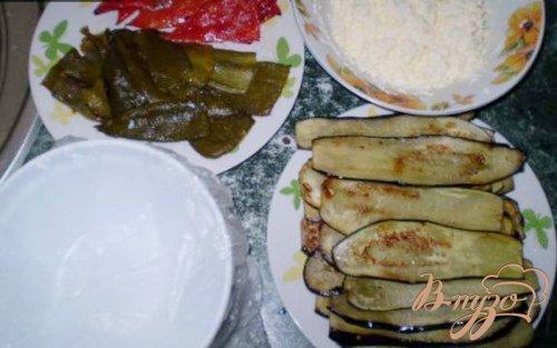 Террин из баклажанов, сладкого перца и сыра