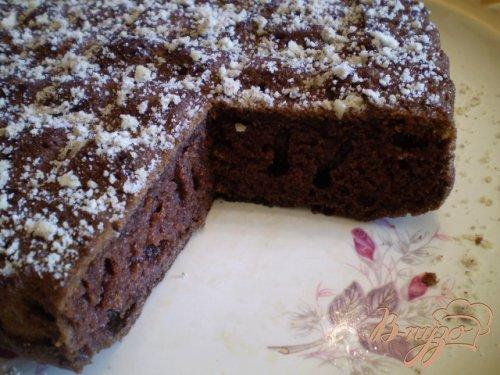 Шоколадный быстрый пирог