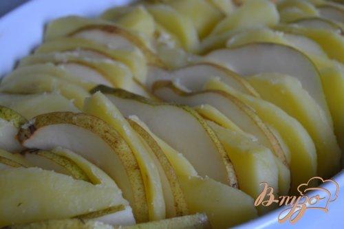 Запеканка из картофеля с грушами и утиными желудочками