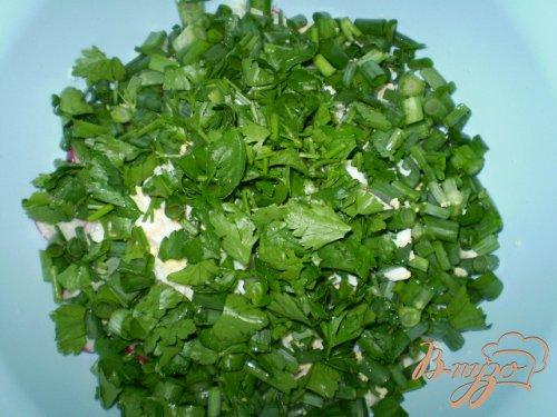 Салат из редиса и мяты
