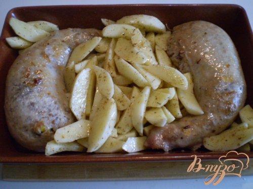 Окорочка фаршированные гречкой, грибами и запеченый картофель