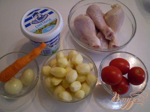 Птица с овощами в духовке