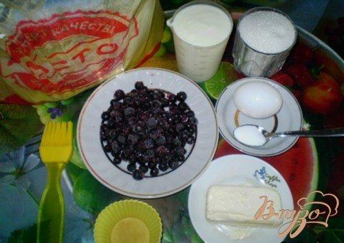 Кексы со смородиной