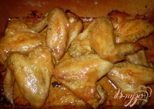 Крылышки маринованные в соевом соусе с медом