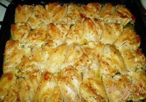 Куриные крылышки в соевом соусе с горчицей