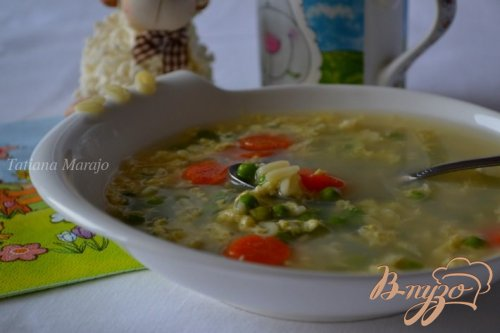 Яичный суп для детского меню