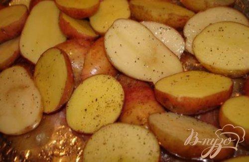 Картофель с селедочным салатом