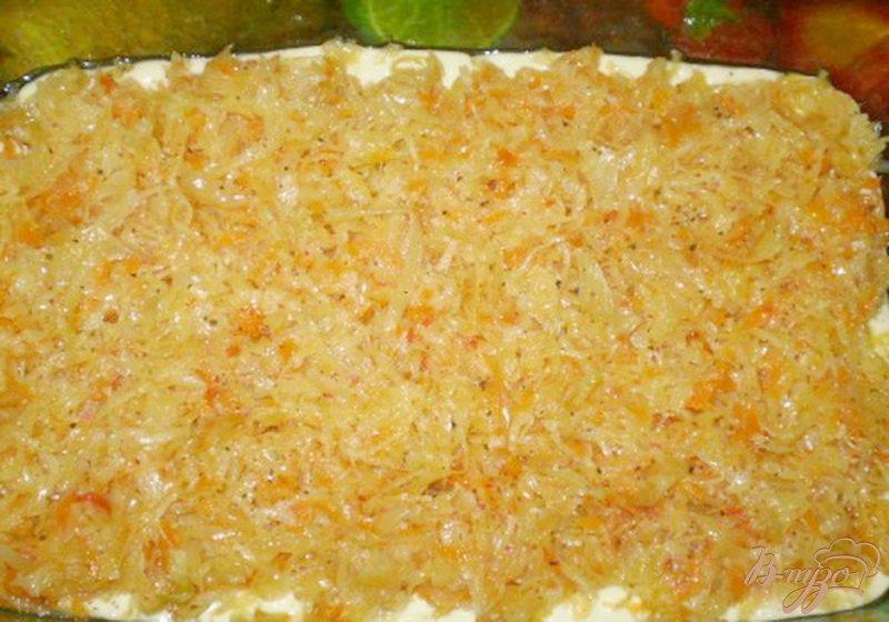 Фото приготовление рецепта: Заливной пирог с капустой шаг №5