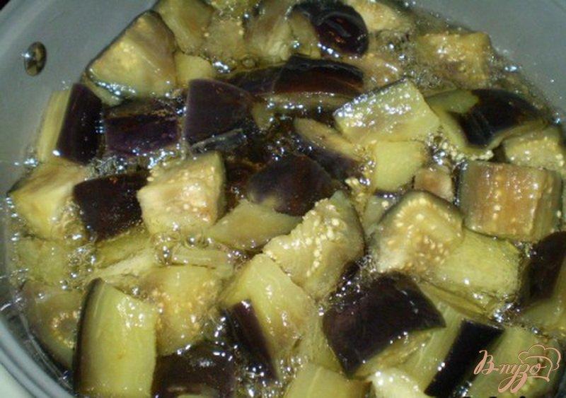 Фото приготовление рецепта: Баклажаны консервированные шаг №4