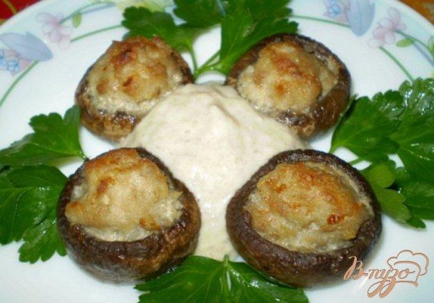 Рецепт Закуска грибная с мясом и соусом