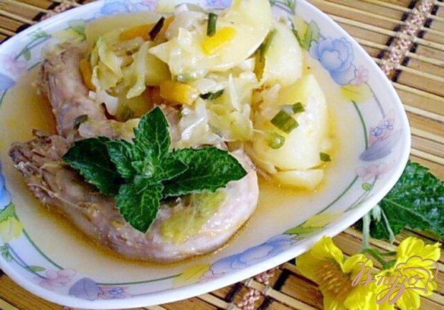 Рецепт Куриные шейки с овощами