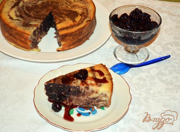 Рецепт Творожно-шоколадная запепканка c вишневым вареньем