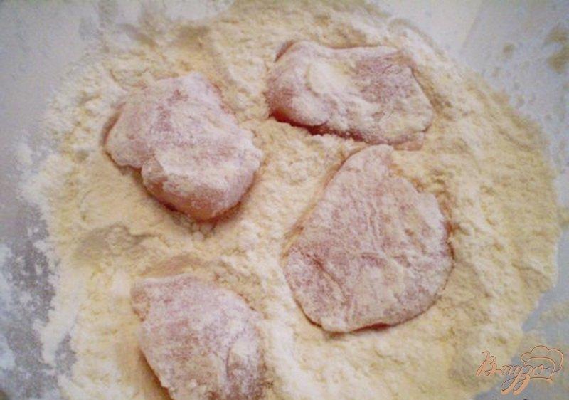 Фото приготовление рецепта: Куриное филе в сливках шаг №3