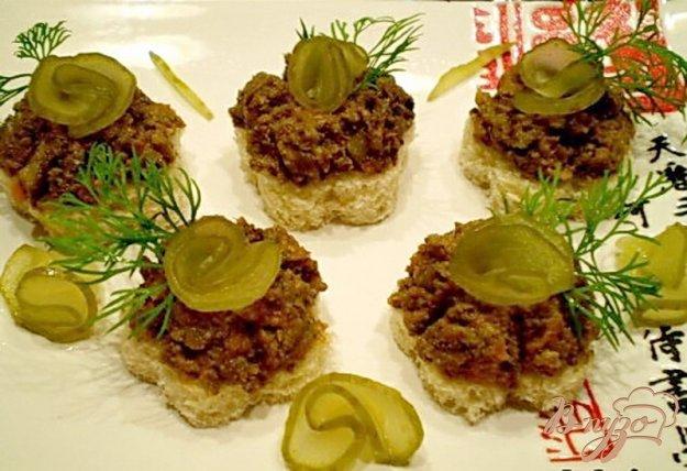 Рецепт Печеночный паштет с грибами
