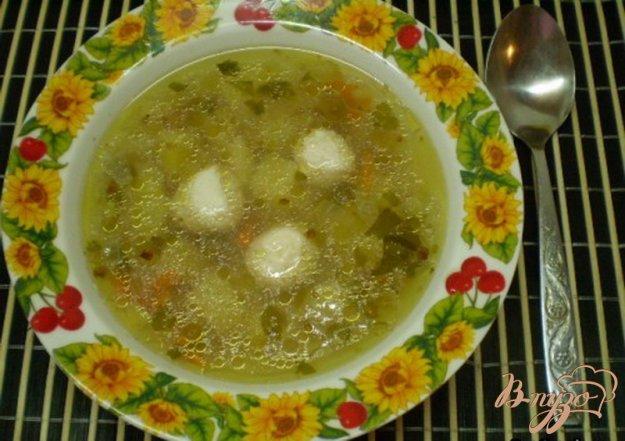 фото рецепта: Гречневый суп с мясными шариками