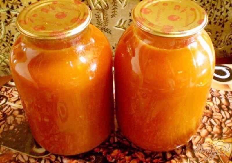Фото приготовление рецепта: Как заготовить томатный сок на зиму шаг №5