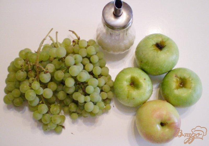 Фото приготовление рецепта: Компот из яблок, винограда с мятой и эхинацеей шаг №1