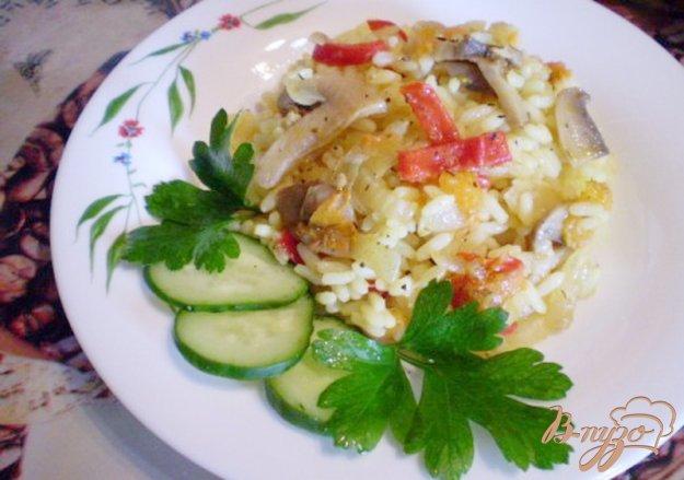 Рецепт Рис с шампиньонами