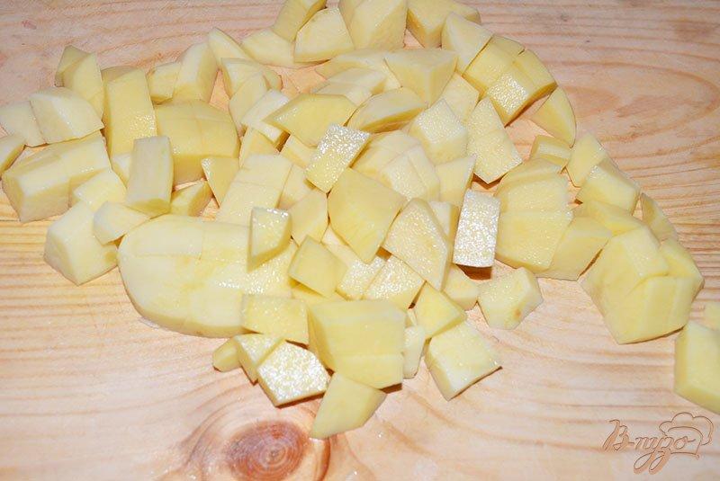 Фото приготовление рецепта: Капустняк картофельный с ветчиной шаг №2