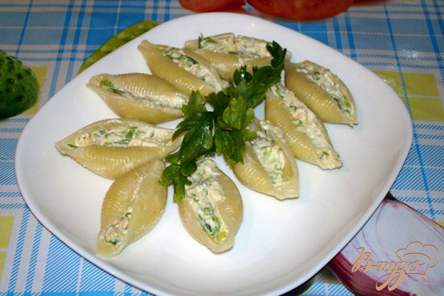 Рецепт Макароны ракушки с голубым сыром