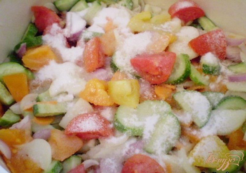 Фото приготовление рецепта: Овощной салат на зиму шаг №3