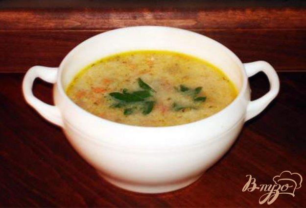 Рецепт Сырный суп с ветчиной, сельдереем и другими овощами