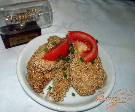 Куриные мясо в кунжуте