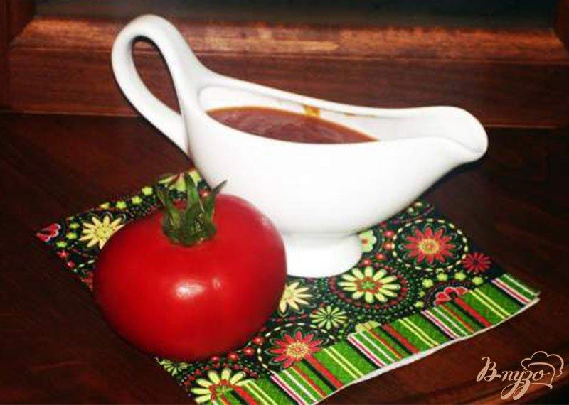 Фото приготовление рецепта: Домашний томатный соус к мясу шаг №4