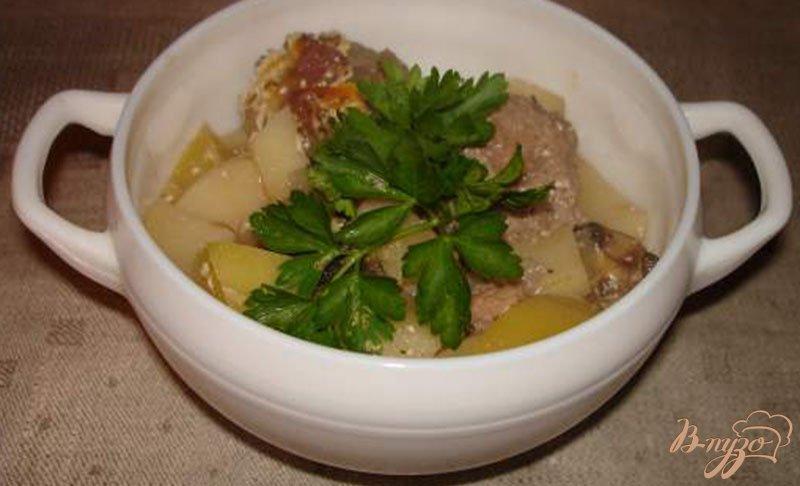 Фото приготовление рецепта: Жаркое с фрикадельками шаг №7
