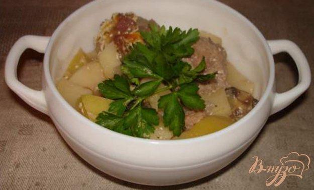фото рецепта: Жаркое с фрикадельками