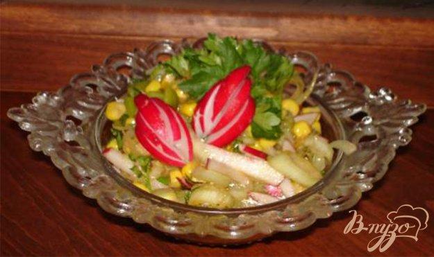 Рецепт Салат из редиса и овощей с томатным соусом