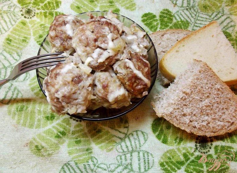 Фото приготовление рецепта: Шведские фрикадельки в сливочном соусе шаг №6