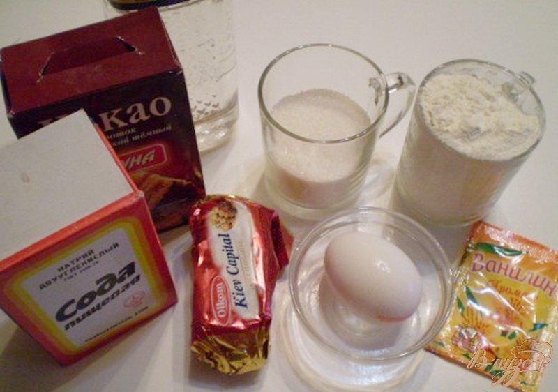 Фото приготовление рецепта: Печенье шоколадное шаг №1
