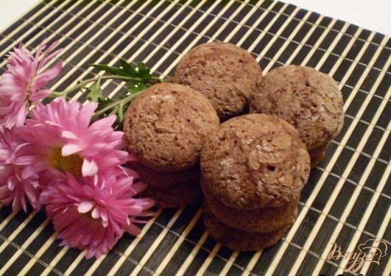 Фото приготовление рецепта: Печенье шоколадное шаг №6