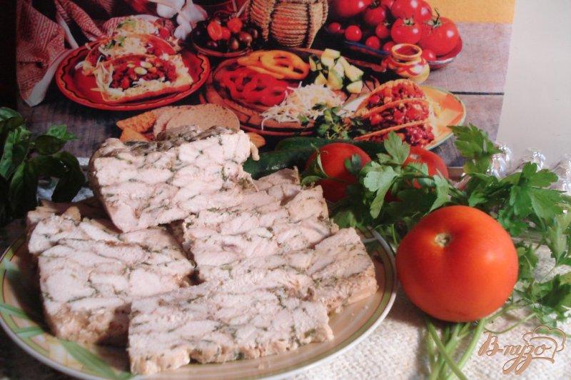 Фото приготовление рецепта: Мраморное куриное филе шаг №8
