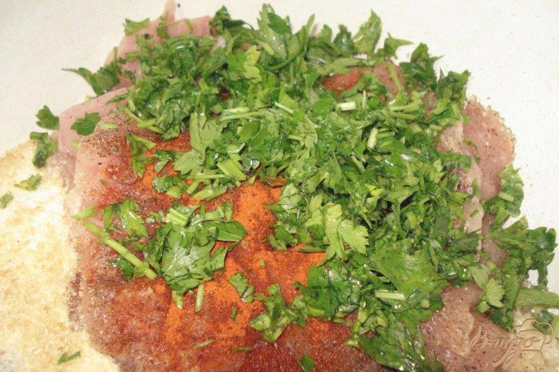 Фото приготовление рецепта: Мраморное куриное филе шаг №4