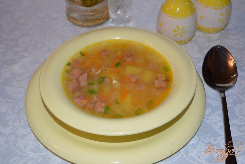 Фото приготовление рецепта: Капустняк картофельный с ветчиной шаг №8