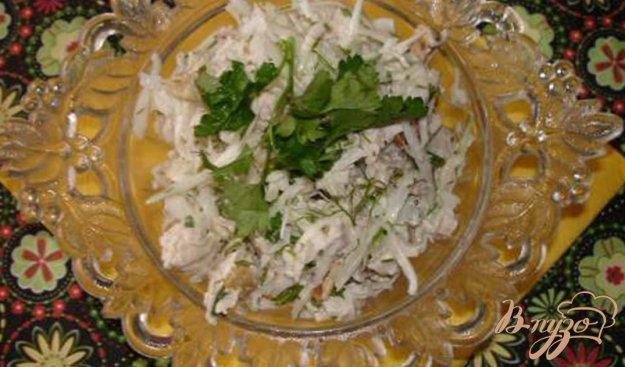 Рецепт Салат из белокочанной капусты с курицей