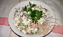 Рецепт Cырный салат с курицей