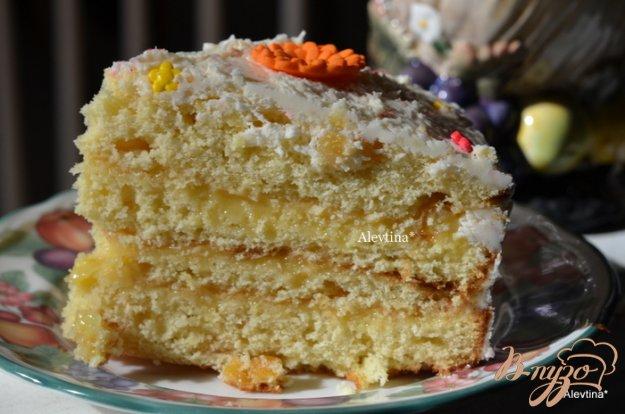фото рецепта: Апельсиновый кекс с начинкой и цитрусовыми цукатами