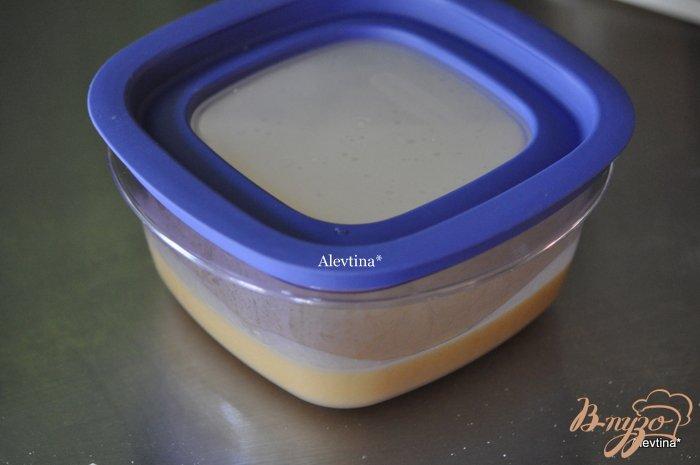 Фото приготовление рецепта: Апельсиновый кекс с начинкой и цитрусовыми цукатами шаг №2