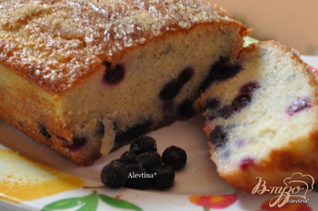 Рецепт Кекс с голубикой и лимонным вкусом