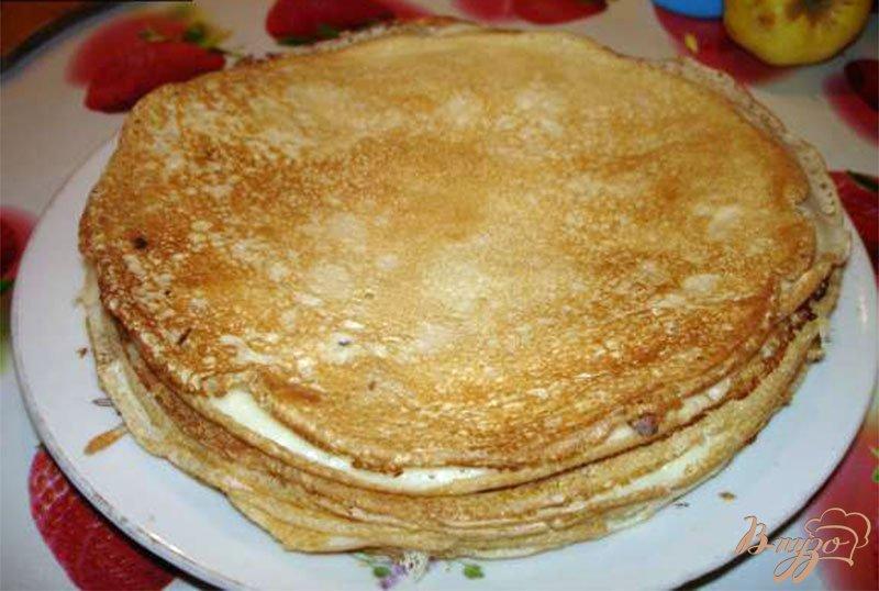 Фото приготовление рецепта: Блины с бужениной и сыром, запеченые в духовке шаг №1